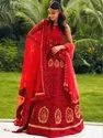 Graceful Embroidery Party Wear Red Lehenga By Parvati Fabric (76625)