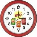 Analog Plastic Logo Wall Clocks, For Promotional, Size: 370*370 Mm