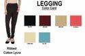 Ribbed Cotton Lycra Solid Legging
