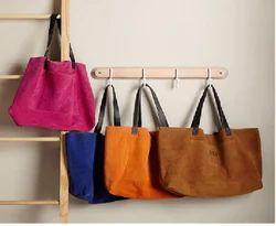 Multicolor Adel International Suede Handbag, Pure Leather: Yes
