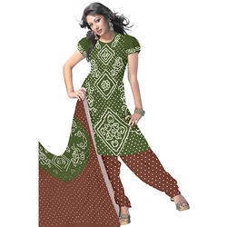Bandhej Green Stylish Suit