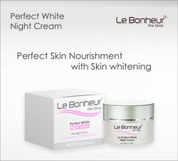 Le Bonheur Whitening Night Cream 50gm, Pack Size: 50g, for Personal