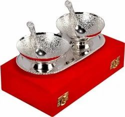 Christmas Gifts Silver Plated 2 Bowl Set