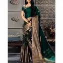 Party Wear Cotton Silk Saree, 6 M (with Blouse Piece)