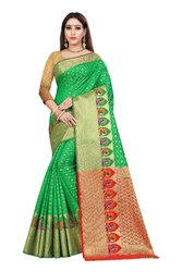 Kanjivaram Silk Weaving Saree  With Blouse Piece