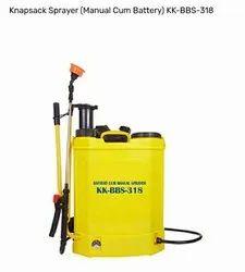 Kisankraft Knapsack Sprayer (Manual Cum Battery), 18 Litre