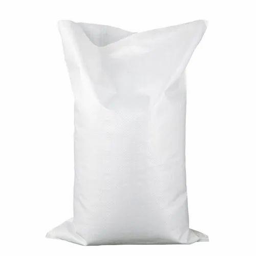 Plain PP White Bags, Capacity: 50 kg