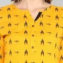Janasya Women's Mustard Pure Cotton Kurta