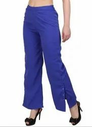 Royal Blue Ankle Length Palazzo Pants
