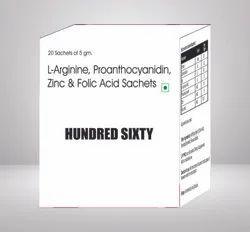 L Arginine Proanthocyanidin Zinc & FolicAcid Sachets
