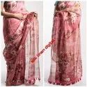 Pure Silk Linen Digital Printed Saree