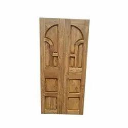 Exterior Modern Teak Wood Double Door