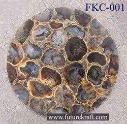 圆形黑玛瑙石头