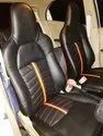 Black Pu Leather Car Seat Cover