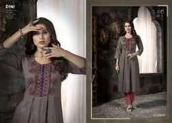 Cotton Flex Embroidered Kurti