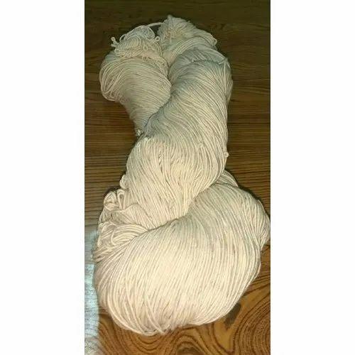 6/20 White Cotton Yarn Hank