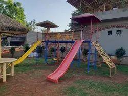 School outdoor playground equipment
