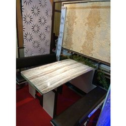 Rectangular Wooden Folding Dining Table With Seating for Restaurant