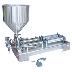 Double Head Pneumatic Filling Machine / Hand Sanitizer Filling Machine
