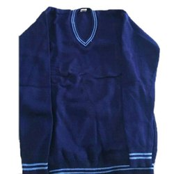 V Neck Blue School Sweater