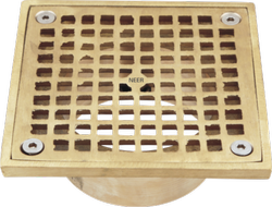 Square Nickel Bronze Floor Drain Strainers
