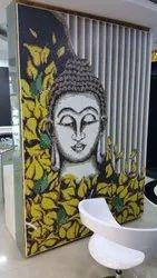 Buddha glass mosaic