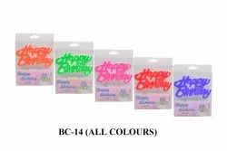 BC-14 Happy Birthday Candle (10 Candles In One Packet)