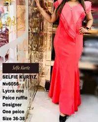 NV 6056 Lycra Ruffle Designer One Piece