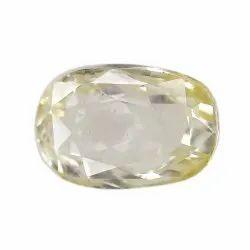 Oval - Cut Loupe Clean Unheat Yellow Sapphire