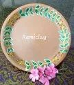 Eco Friendly Terracotta Clay Serving Plate