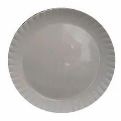 Plain Round White Plastic Dinner Plate for Hotel