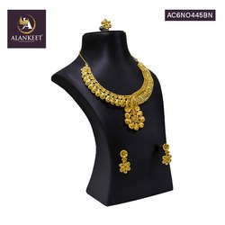 Designer Indian Wedding Bridal Party Wear Fashion Jewelry Necklace Set with Earrings