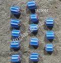 Powdered Glass Handmade Chevron Beads