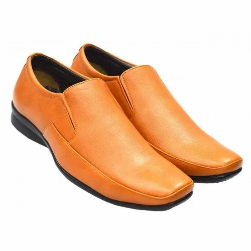 Tan Slip On Alive A43741 Men Formal Shoes, Rs 790 /pair