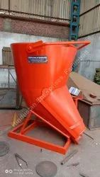 Concrete Bucket with Screw Jack Arrangement