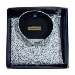 Printed Collar Neck Mens Cotton Designer Shirt, Handwash