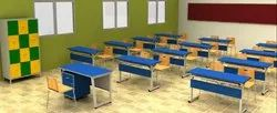 School Rectangular Table and Chair