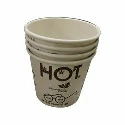 White 100 Ml Food Grade Printed Disposable Paper Cup