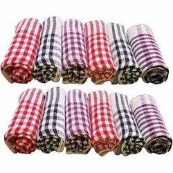 Cotton Check Kitchen Towel, 250-350 GSM