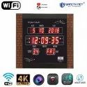Safetynet Wifi Spy Camera Security Digital Wall Clock Camera 4k Support 128gb Memory Card