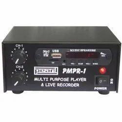 PEARL Black PMPR-1 Multi Purpose USB Player And Live Recorder, 230 Volt Ac & 12 Volt Dc