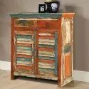 Multicolor Two Drawer Reclaimed Wood Sideboard, Country Of Origin: India, Size: 90*45*90 Inch