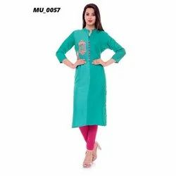 Sea Green Ladies Kurti