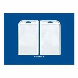 Two Side Sticky ID Card Holder