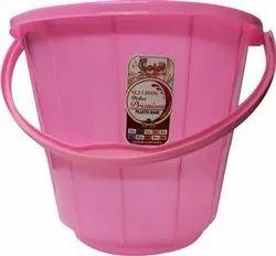 Pink Bathroom Plastic Bucket