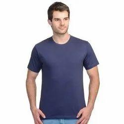 Navy Blue Mens Round Neck T Shirt