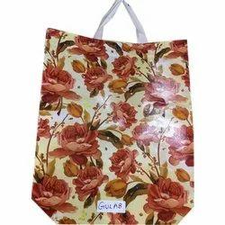 Non Woven Gulab Printed Loop Handle Bag, Capacity: 2-5 Kg