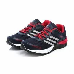 Mens Navy Blue Red Synthetic Walking Shoes