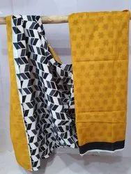 Bagru Hand Printed Cotton Saree