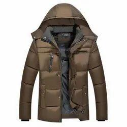 Mens Brown Puffer Jacket